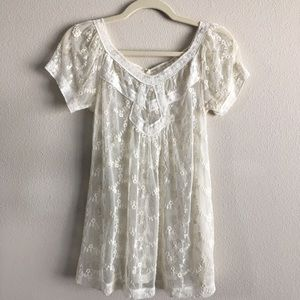 Charlotte Russe|Lace Boho Top| Size: S